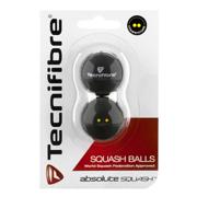 Piłeczki do squasha Tecnifibre 2szt. dwie żółte kropki