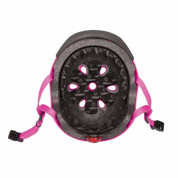 Kask dziecięcy Globber Elite Lights 507-110 Deep Pink / Flowers
